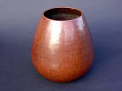 Dirk Van Erp Large Vase,  Closed-Box Mark